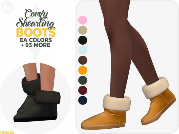 The Sims Resource: Comfy Shearling Boots by Nords