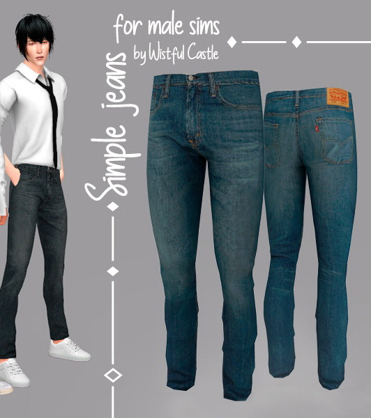 The Sims Resource Elegant Bathroom: The Sims Resource: Simple Jeans For Male By WistfulCastle