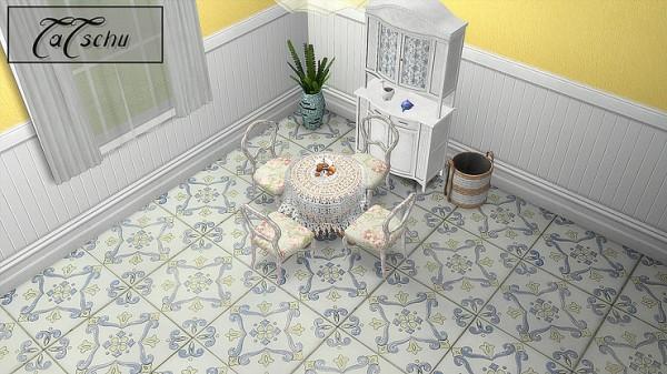 Blooming Rosy: Ornate Floor Tiles Set Part 2