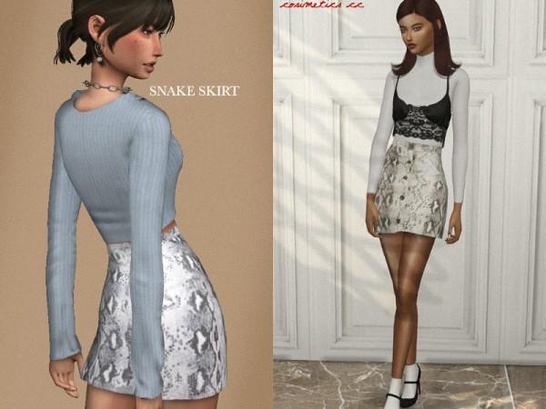 The Sims Resource: Snake skirt by cosimetics