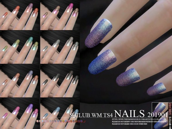 The Sims Resource: Nails 201901 by S Club