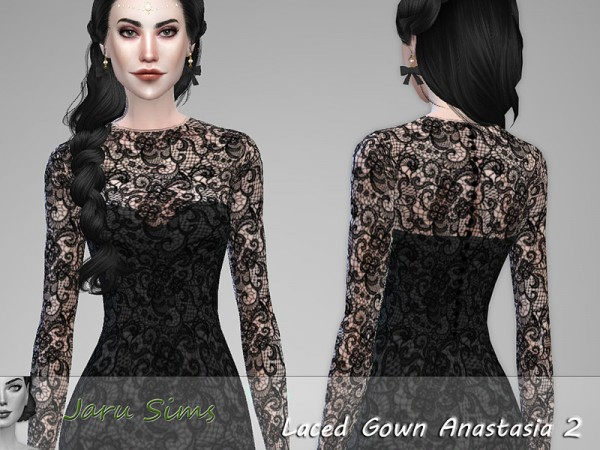 The Sims Resource: Laced Gown Anastasia 2 by Jaru Sims