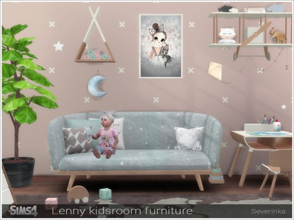 The Sims Resource: Lenny kidsroom furniture by Severinka
