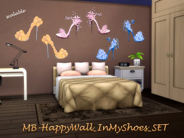 The Sims Resource: In My Shoes walls set by matomibotaki
