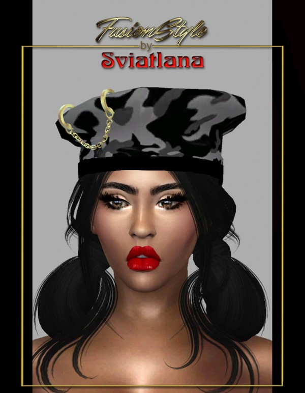 Fusion Style: Cap and Blouse with a bag on the belt by Sviatlana