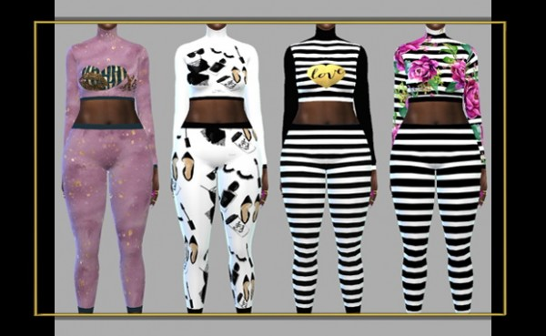 Fusion Style: Top and Leggings by Sviatlana