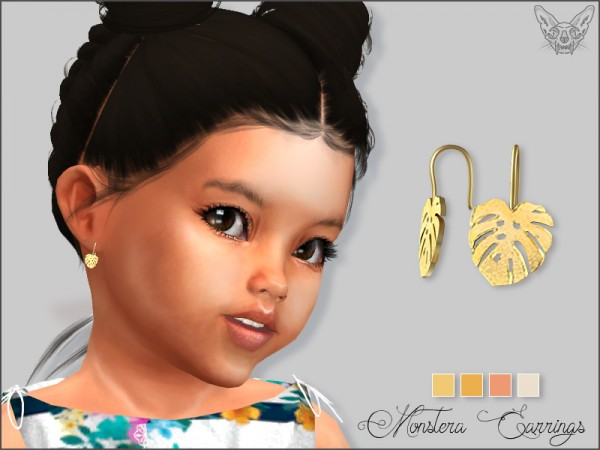 Giulietta Sims: Monstera Earrings For Toddlers