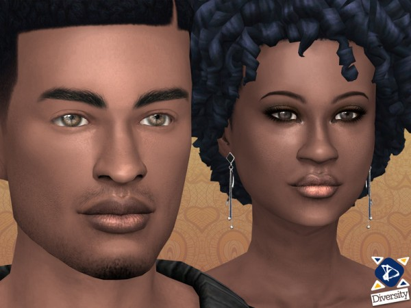 The Sims Resource: Natural Lipstick   Lipgloss for Dark skintones by lilotea
