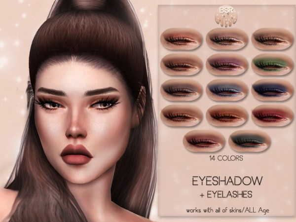 The Sims Resource: Eyeshadow and Eyelashes BS03 by busra tr