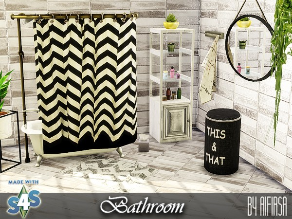 Aifirsa Sims: Bathroom furniture and decor
