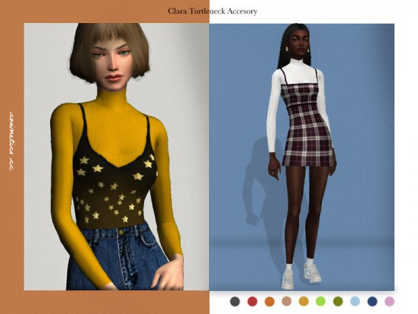 The Sims Resource: Clara turtleneck accesory top by cosimetics
