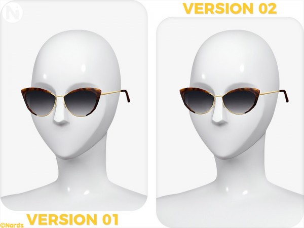The Sims Resource: Kicky Cat Eye Glasses by Nords