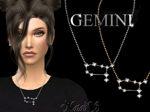 The Sims Resource: Gemini zodiac necklace by NataliS