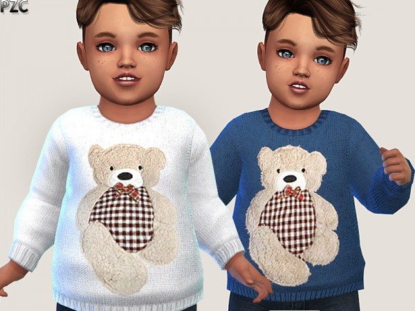 The Sims Resource: Little Bear Sweater 02 by Pinkzombiecupcakes