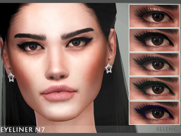 The Sims Resource: Eyeliner N7 by Seleng