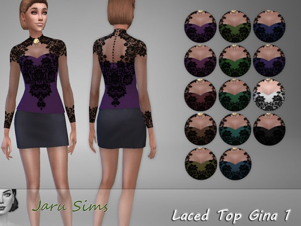 The Sims Resource: Laced Top Gina 1 by Jaru Sims