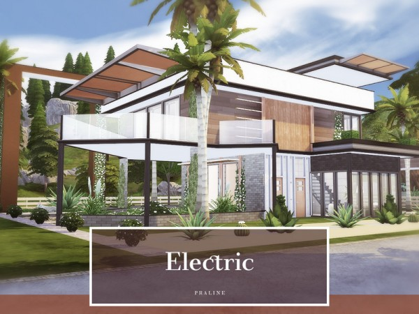 The Sims Resource: Electric House by Pralinesims