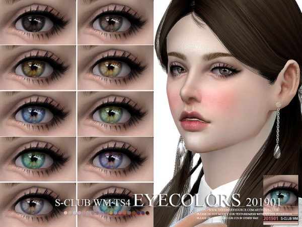 The Sims Resource: Eyecolors 201901 by S Club