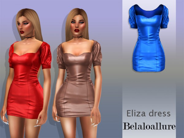 The Sims Resource: Eliza dress by belal1997