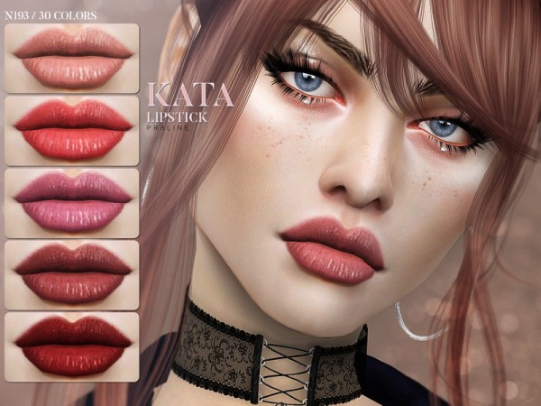 The Sims Resource: Kata Lipstick N193 by Pralinesims