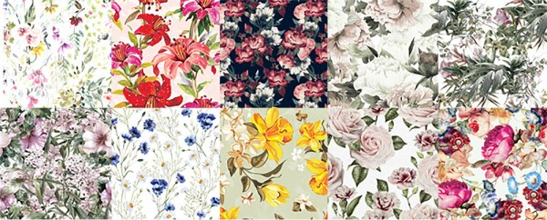 Blooming Rosy: Flower Delicacy   Textyle Collection