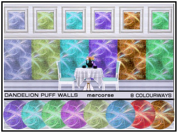 The Sims Resource: Dandelion Puff Walls by marcorse