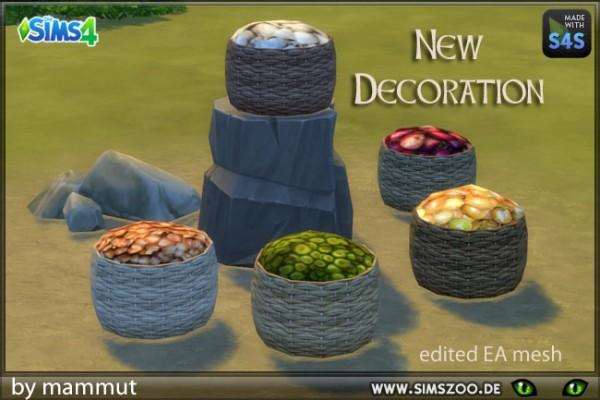 Blackys Sims 4 Zoo: Basket Supplies by mammut
