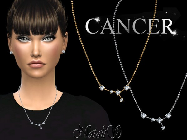 The Sims Resource: Cancer zodiac necklace by NataliS