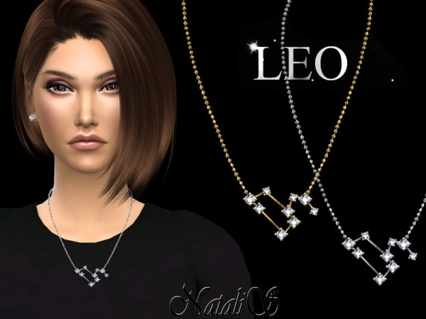 The Sims Resource: Leo zodiac necklace by NataliS