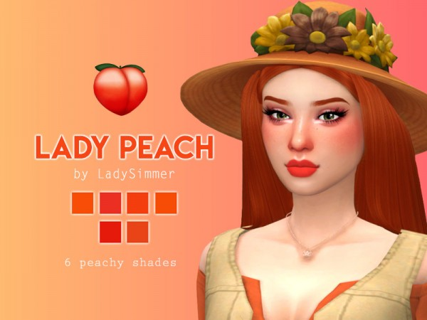 The Sims Resource: Lady Peach Lipstick by LadySimmer94