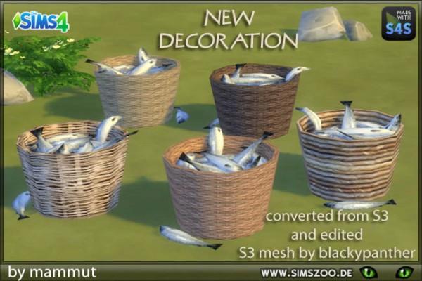 Blackys Sims 4 Zoo: Fishbasket by mammut
