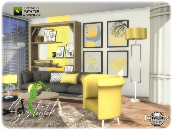 The Sims Resource: Sezlestek livingroom by jomsims