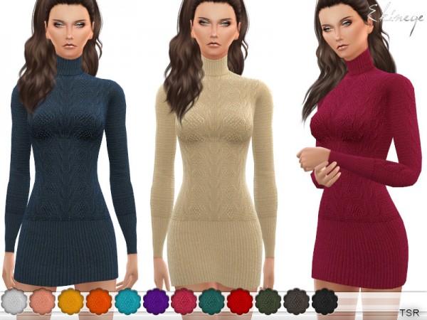 The Sims Resource: Turtleneck Sweater Dress by ekinege