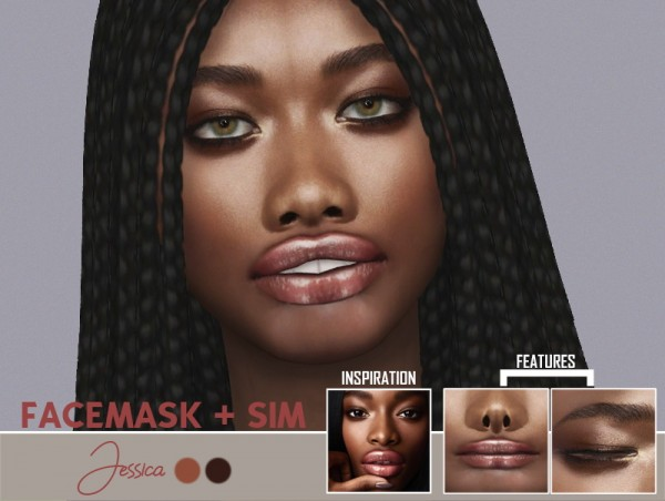 Red Head Sims: Jessica face mask and sim