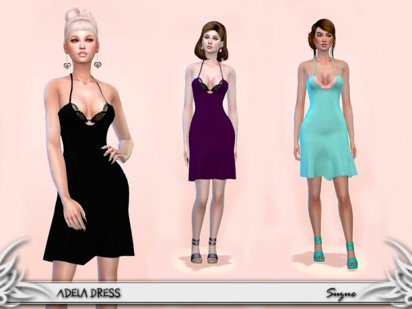 The Sims Resource: Adela Dress by Suzue