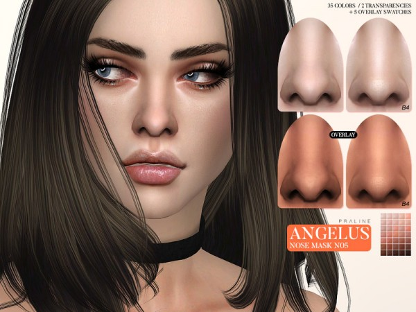 The Sims Resource: Angelus Nosemask N05 by Pralinesims