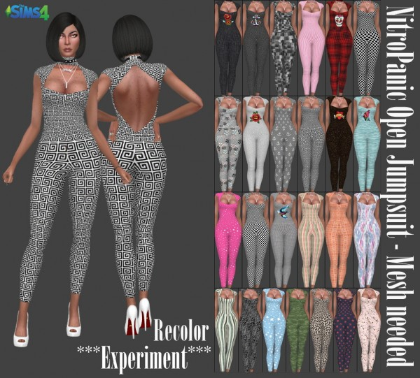 Annett`s Sims 4 Welt: NitroPanic`s Open Jumpsuit Recolored