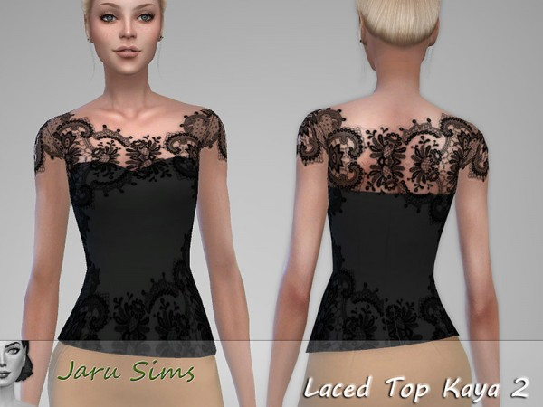 The Sims Resource: Laced Top Kaya 2 by Jaru Sims
