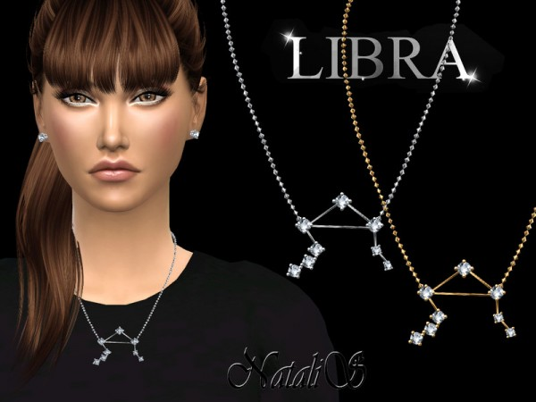 The Sims Resource: Libra zodiac necklace by NataliS