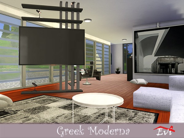 The Sims Resource: Greek Moderna house by evi