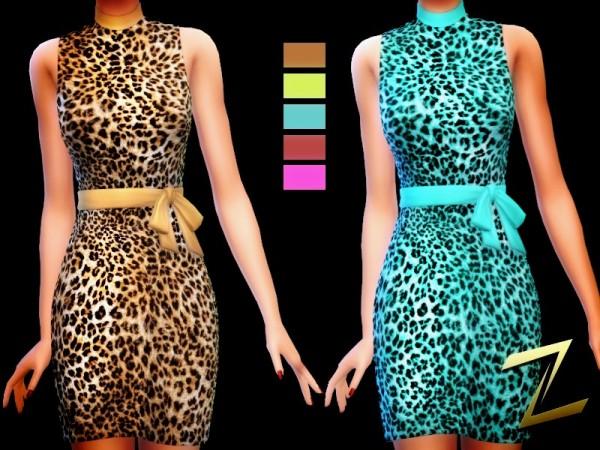 The Sims Resource: Leopard 5 ways dress by ZitaRossouw