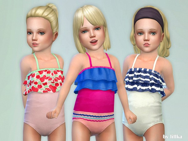 The Sims Resource: Toddler Swimsuit P05 by lillka