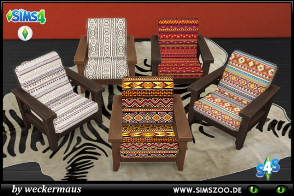 Blackys Sims 4 Zoo: African Style Chair by weckermaus
