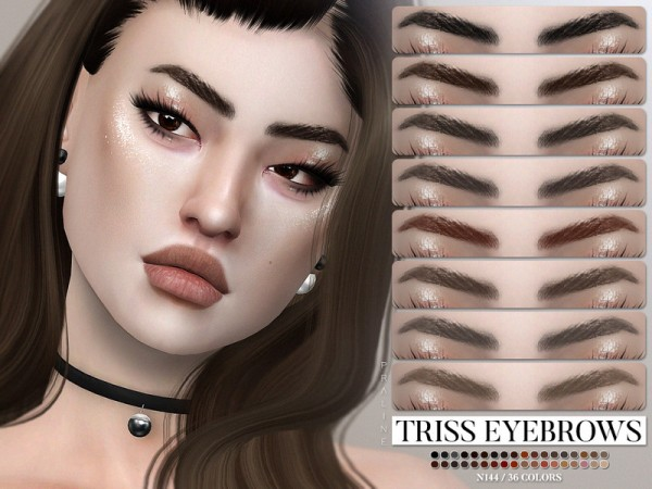 The Sims Resource: Triss Eyebrows N144 by Pralinesims