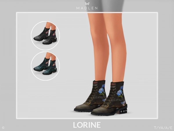 The Sims Resource: Madlen Lorine Boots by MJ95