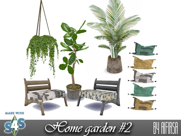 Aifirsa Sims: Indoor plants and furniture
