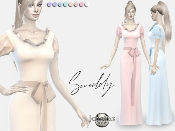 The Sims Resource: Sweddy dress by jomsims