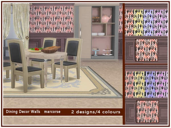 The Sims Resource: Dining Decor Walls by marcorse
