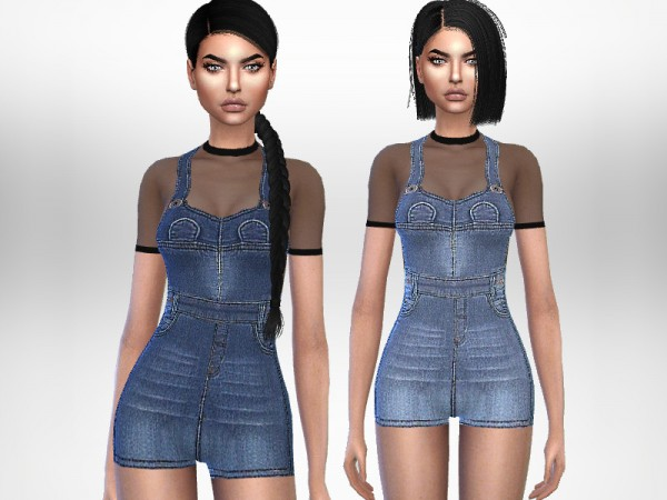The Sims Resource: Cleo Overalls by Puresim