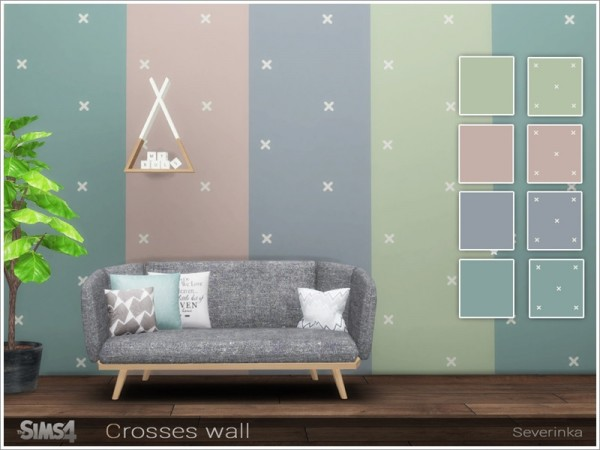The Sims Resource: Crosses wall by Severinka